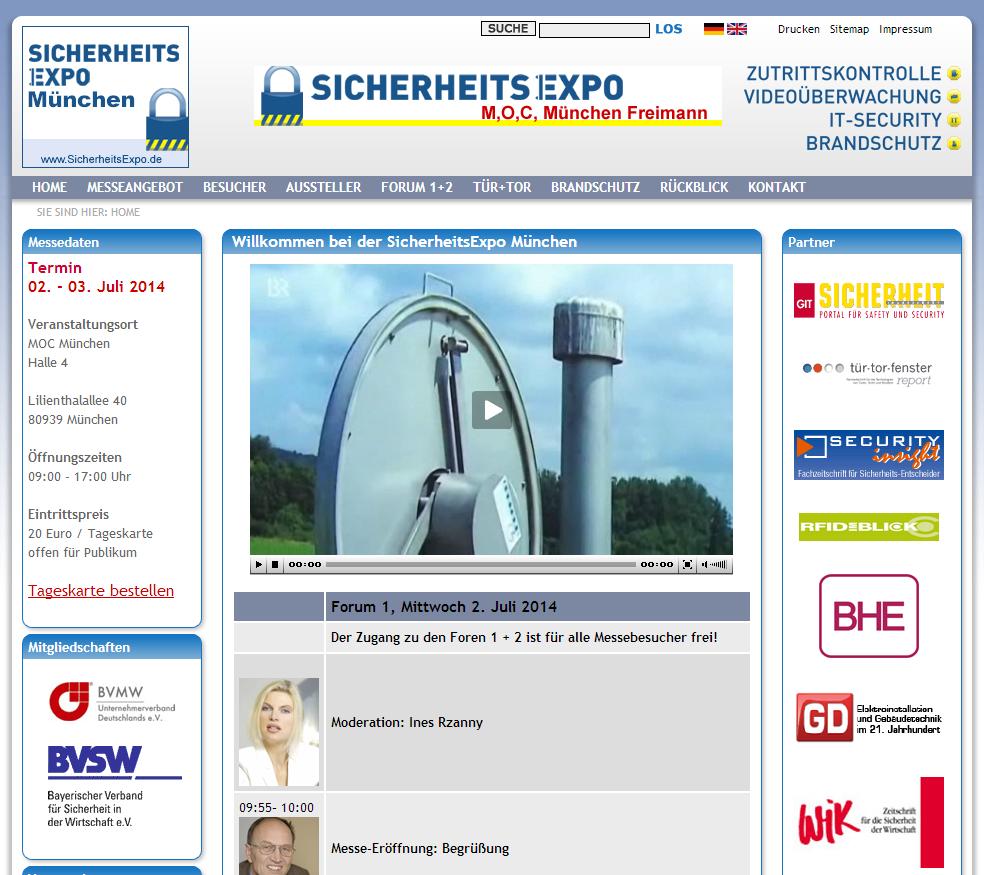 Sicherheitsexpo 2014 München